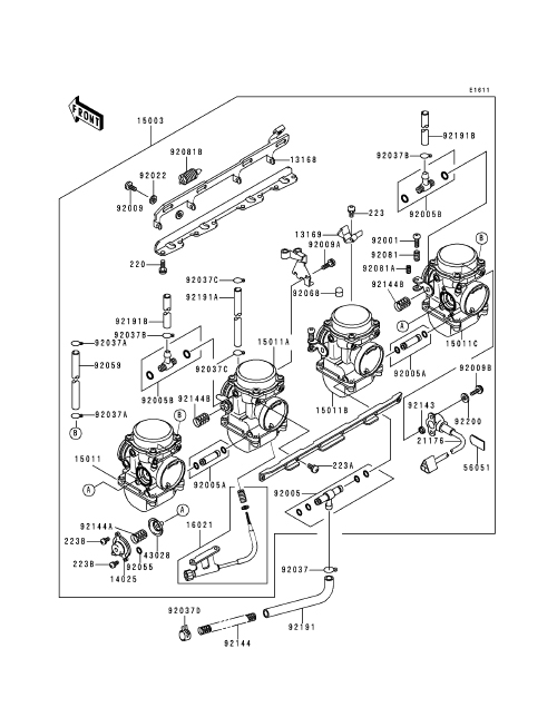 dirty girl >> kawasaki zrx 1100 kawasaki zrx 1100 carburetor assembly diagram